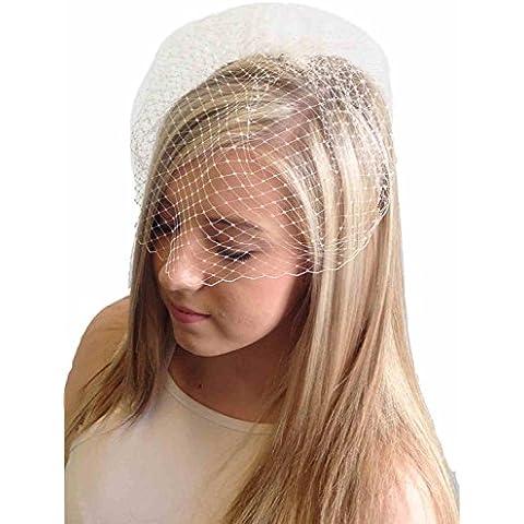 De jaula y Veil Classic en color blanco - 20 cm de gotas de en relieve de mujer con para personas con movilidad reducida.