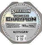 Ligne de pêche Konger World Champion - Revêtue au fluorocarbone _ 0,10-0,30mm - 150m - Monofil - Super puissante - De qualité supérieure, 0,28mm / 150m