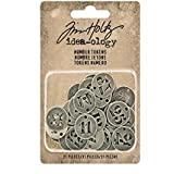 """Idea-Ology Metal Number Tokens 31/pkg-Antique Silver .75"""""""