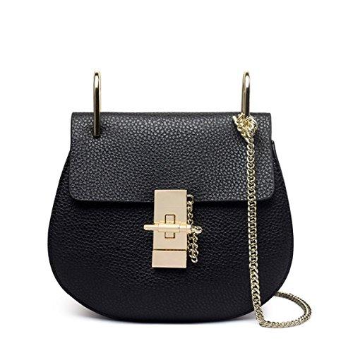 Weibliche Schwein tasche Kette handtasche Schulter messenger bag mode Mini leder tasche Schwarz