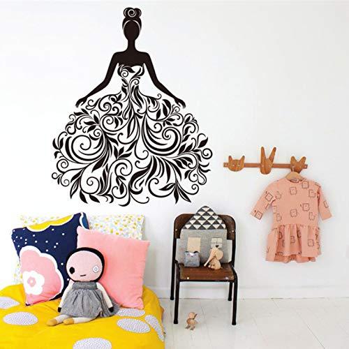 Abnehmbare Blume Reben Mädchen Wandaufkleber Vinyl Kunst Wand Schlafzimmer Wandkunst Aufkleber Kinderzimmer Wohnkultur DIY Wandbild