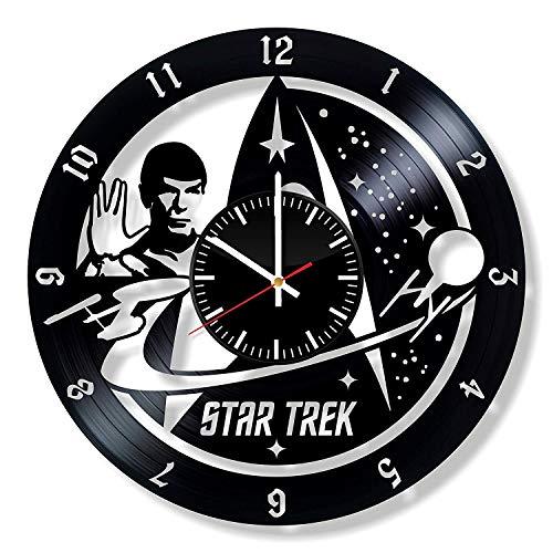 LKCAK Star Trek Vinyl Uhr - Wand Kunst Raum Dekor handgemachte Dekoration Party Supplies Thema Sachen Geburtstagsgeschenk Vintage Modern Style