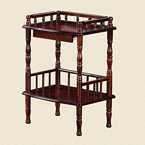 Stand MEIDUO Beistelltisch, Holz-Beistelltisch Kleiner Mehrzweck-Tisch mit kleinem Tisch Telefonständer Tisch Home Office Möbel Coffee Brown sehr langlebig (3 Regal Bücherregal Birke)