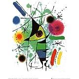 Reproduction d'art 'Le poisson chantant', de Joan Miró, Taille: 24 x 30 cm