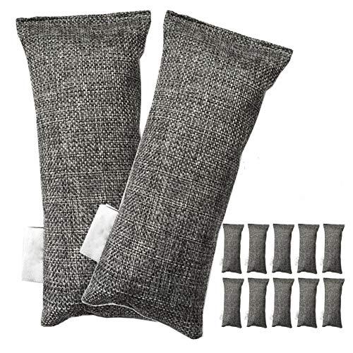 CUHAWUDBA 12 Packs Jede Bambuskohle Taschen Natürliche Luftreiniger, Schuhdesodorierer Und Geruchseliminator (Packung Mit 12 S?cken)