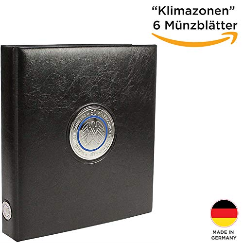 �nzen Sammelalbum Klimazonen der Erde 2016-2021 - Premium Münzsammelalbum Coin Collection- Euro Sammelalbum - inkl. 6 Münzblätter- Made in Germany 7360 ()