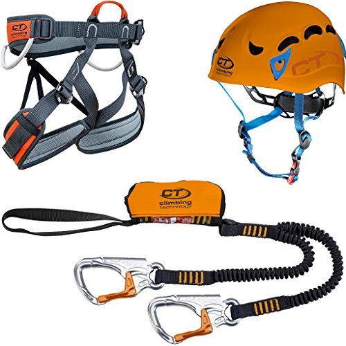 Climbing Technology Plus Kit Via Ferrata, Casco + Imbrago + Set, S-M