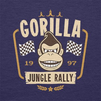 TEXLAB - Gorilla Jungle Rally - Herren T-Shirt Navy