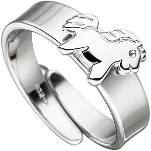 """Ring Kinder""""Pferd"""" Kinder und Jugendliche Silber rhodiniert"""