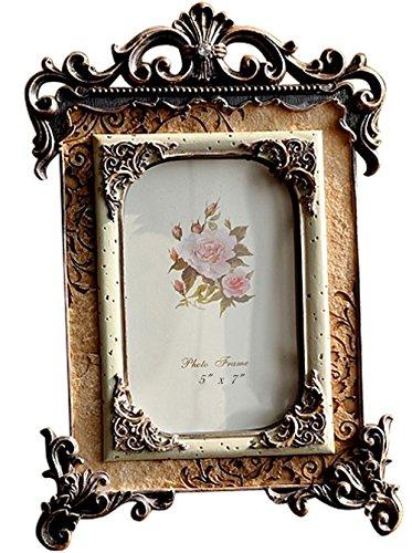 Gift Garden Marco de Fotos 13x18cm de Estilo Vintage Europeo,Artículo Familiar Lujoso Ligero,Decoración Barroco,Artesanía Clásico.