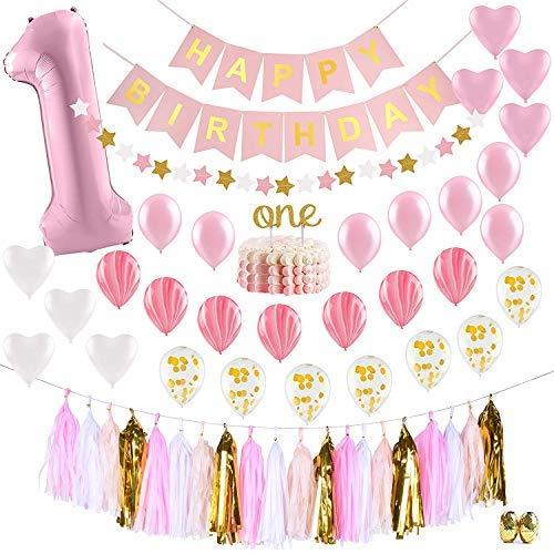 ArmaGedon One Years Party Supplies Partydekorationen für Mädchen Geburtstagsparty (Mädchen Spa Party Für Supplies)