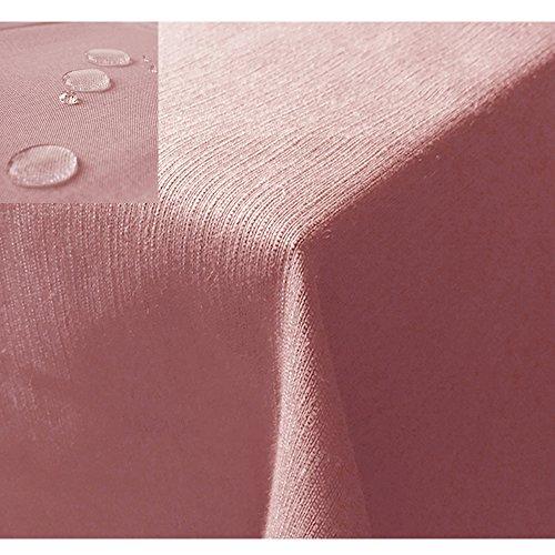JEMIDI Tischdecke / Gartentischdecke Lotus Effekt Leinenoptik Tischdecke Decke Leinen Fleckschutz XL (Hellgrün, Oval 135cm x 180cm)