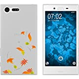 PhoneNatic Sony Xperia X Compact Coque en Silicone automne M1 Case Xperia X Compact + films de protection
