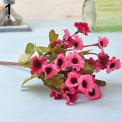 Outtybrave 1 Strauß künstlicher Sonnenblumen, kleine Sonnenblumen, künstliche Blumen, Heimdekoration, Hochzeit, Blumen, Fotografie-Requisiten