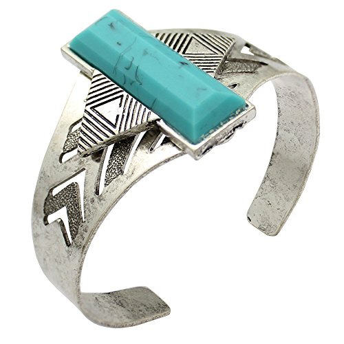 silver-plated-qq-fashion-vintage-aztec-arrow-turquoise-bar-navajo-zuni-southwest-bracelet-bangle-cuf