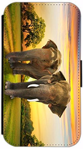 Flip Cover für Apple iPhone 6 / 6S (4,7 Zoll) Design 696 Giraffe Giraffen Hülle aus Kunst-Leder Handytasche Etui Schutzhülle Case Wallet Buchflip mit Bild (696) 688