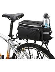 Xphonew 10L Mountain City Road VTT pour vélo extérieur Sport imperméable Banquette arrière Sac Sacoche Sac de coffre de vélo Accessoires Bandoulière Sac à main sacoche sac avec bouteille d'eau Pouch–Noir