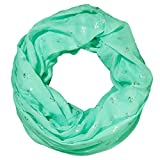 MANUMAR Loop-Schal für Damen   Hals-Tuch in mintgrün mit Maritim Motiv als perfektes Herbst Winter Accessoire   Schlauchschal   Damen-Schal   Rundschal   Geschenkidee für Frauen und Mädchen