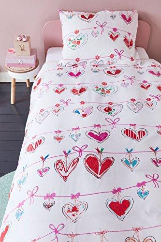beddinghouse Kinder Bettwäsche Garland pink, Größe: 135x200+80x80cm