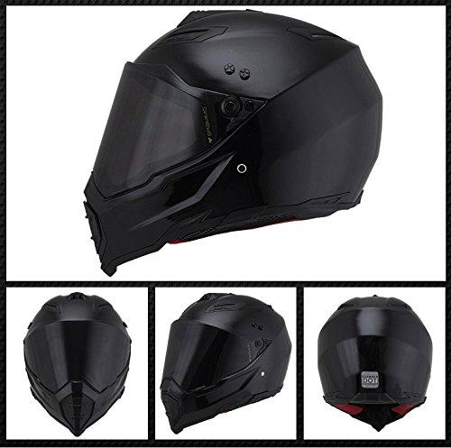 Woljay Off Road Helm Motocross-Helm Motorradhelm Motocrosshelme Fahrrad ATV (L, Schwarz) - 2