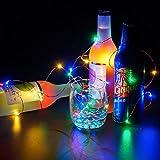 Lichterkette für Weihnachten, 30 LEDs, batteriebetrieben, bunt, mehrfarbig, für Zuhause, Weihnachtsbaum, Partys, Hochzeit, Valentinstag, Dekoration, Lichter, 30 m