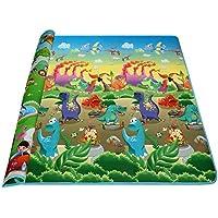 Arshiner - Alfombra de actividades o juego para bebé o niño, espuma espesa, diseño de alfabeto, números y animales, 180x 200x 0,5cm