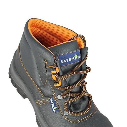 Safemann baustiefel s3 sRC chaussures de sécurité noir haut de chaussures Noir