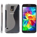 iProtect S-Line TPU Schutzhülle Samsung Galaxy S5 Hülle transparent