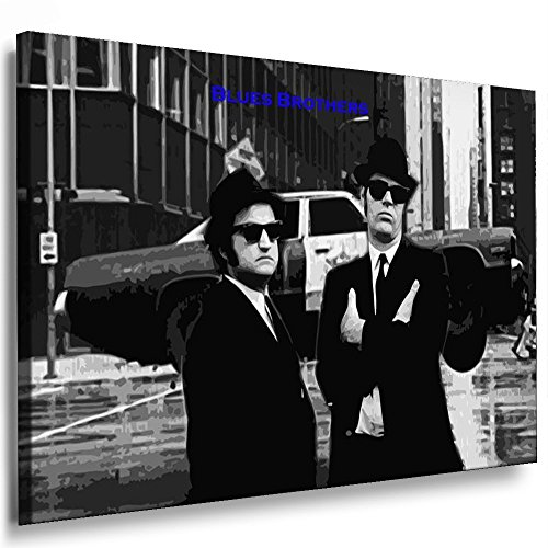 Boikal / Leinwand Bild Blues Brothers Film 1980 Leinwanddruck, Kunstdruck fm11 Wandbild 40 x 30 cm