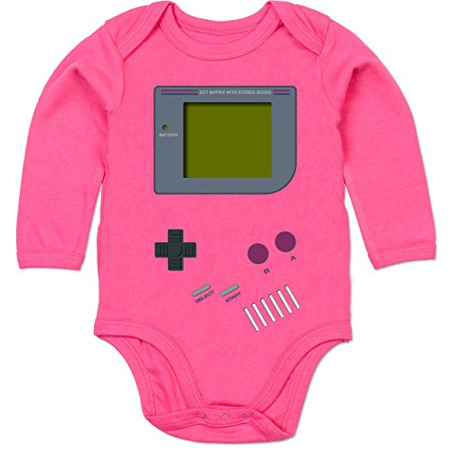 Shirtracer Strampler Motive - Gameboy - 6-12 Monate - Fuchsia - BZ30 - Baby Body Langarm
