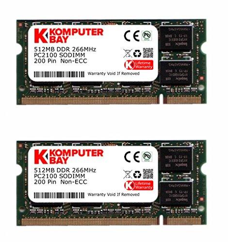 Komputerbay 1GB (2X512MB) 266Mhz DDR SODIMM (200 pin) PC2100 für Asus A5Ec 1 GB (2X512MB) (512 Mb Pc 2100 Ddr)