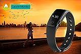 Fitness Tracker Smart Armband mit Pulsmesser, YAMAY® Bluetooth Smart Armbanduhr Sport Schrittzähler Aktivitätstracker mit Herzfrequenzmonitor / Schrittzähler / Kalorienzähler / Schlaf-Monitor, kompatibel mit iPhone IOS und Android-Handy - 8