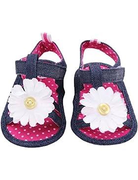 Tonsee Sommer Sandalen Kleinkind Prinzessin erste Wanderer Mädchen Kind Babyschuhe (12 cm, hot pink)