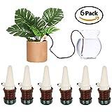 DOCA Bewässerung für Pflanzen Geräte, 6 Stück Keramik automatischen Bewässerung, Spikes Tropfbewässerung System Gartengeräte, Substrat für Bonsai Blumen