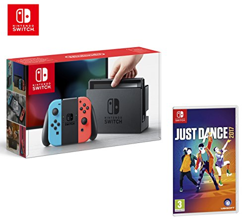 Preisvergleich Produktbild Nintendo Switch 32Gb Neon-Rot/Neon-Blau + Splatoon 2