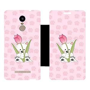 Skintice Designer Flip Cover with hi-res printed Vinyl sticker wrap-around for Xiaomi Redmi Note 3