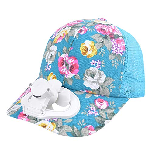 Nncande Unisex-Erwachsene Sommer Baseball Cap Outdoor Lüfterhaube Mütze Angeln Golf Hut USB Fan Krempe Ventilator Kappe Angelmütze (4203BU) (Halloween Morgan Captain)