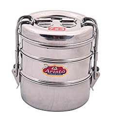 Aristo Tiffin 7x3 Stainless Steel Lunch Box