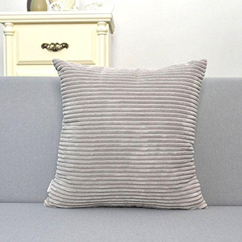 Natus Weaver Supersoft Doux Kissenbezug Kissenhülle, besonders flauschig, Kissen nicht im Lieferumfang enthalten ( 45 x 45 cm ) Grau (Batik-rock Set)