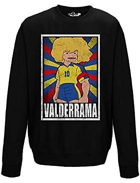 Felpa Girocollo Calcio Vintage Valderrama Colombia Legend Parodia Holly e Benji