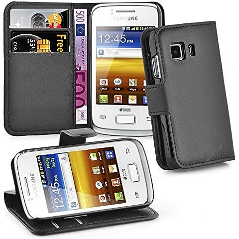 Cadorabo - Funda Samsung Galaxy YOUNG 2 Book Style de Cuero Sintético en Diseño Libro - Etui Case Cover Carcasa Caja Protección (con función de suporte y tarjetero) en