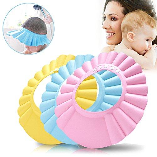 Preisvergleich Produktbild Shampoo Dusche schützen Hut, 3PCS Einstellbar Baby Kinder waterproof Baden Kappe Hüte & Mützen für Baby Kinder