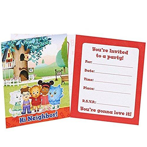 Daniel tiger party supplies - invitations (8) by birthdayexpress
