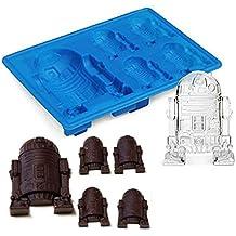 Uctop Store fuerza despierta silicona Ice Cube Tray Star Wars Chocolate Jelly Candy jabón para tartas molde Color al azar (1 pcs)