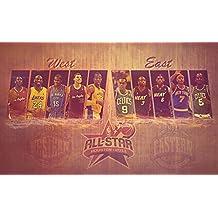2013 NBA All Stars Poster On Silk <57cm x 35cm, 23inch x 14inch> - Cartel de Seda - 2014DD