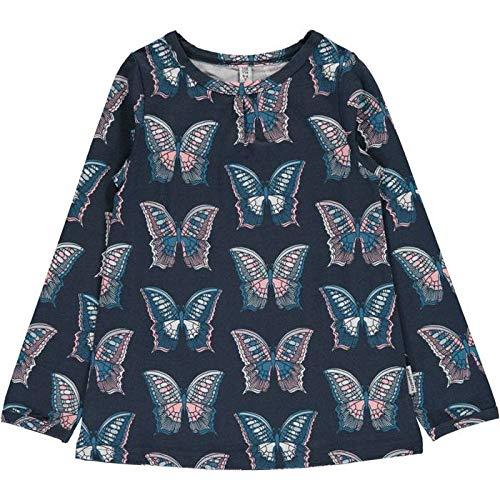 Butterfly Bio-kinder-t-shirt (Maxomorra Top A-line LS Butterfly - Größe 122/128 -)