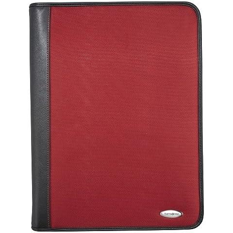 Samsonite organizer in pelle/tessuto per iPad/Tablet, colore: rosso/nero