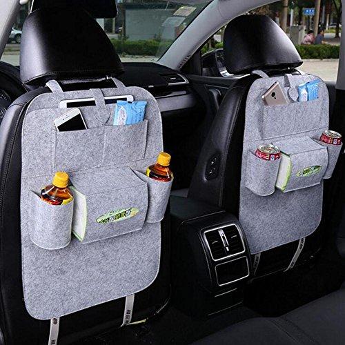 Alger car seat stoccaggio borsa hanging bag organizer copertura protettiva auto stuoie sedile posteriore borsa multi-purpose auto box di stoccaggio 1pcs , light grey