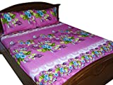 Looms Of India Flower Print Bed Sheet -D...