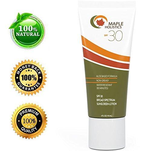Natural Sunscreen with SPF 30 - Block Sun UVA +...